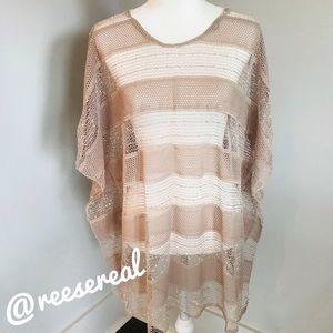 Other - Embellished Poncho Beach Swim Coverup